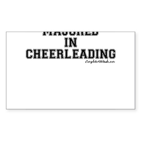 Majored In Cheerleading Sticker (Rectangle)