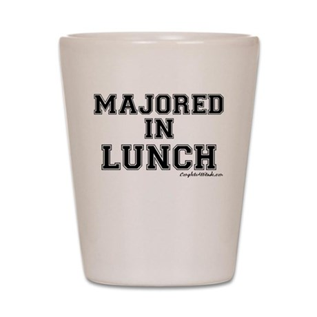 Majored In Lunch Shot Glass