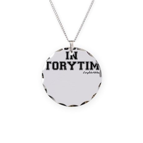 Majored In Storytime Necklace Circle Charm