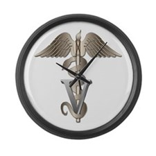 Veterinarian Caduceus Large Wall Clock