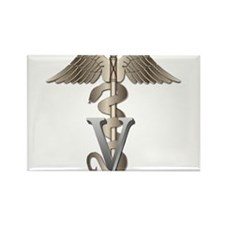 Veterinarian Caduceus Rectangle Magnet (10 pack)