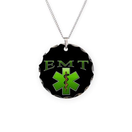 EMT(Green) Necklace Circle Charm