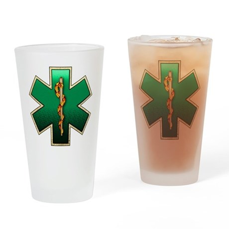 Star of Life(Emerald) Drinking Glass