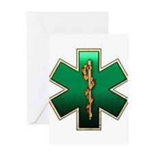 Star of Life(Emerald) Greeting Card