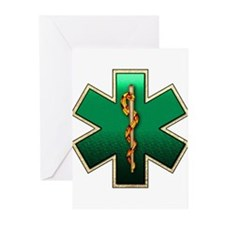 Star of Life(Emerald) Greeting Cards (Pk of 10)