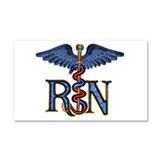 RN Caduceus Car Magnet 20 x 12