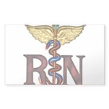 RN Caduceus Bumper Stickers