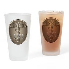 LVN Caduceus Drinking Glass