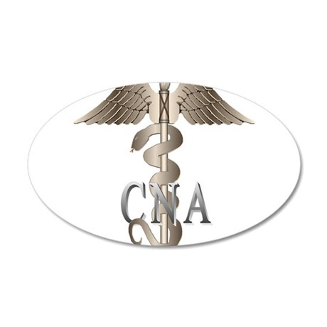 CNA Caduceus 22x14 Oval Wall Peel
