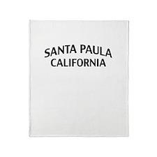Santa Paula California Throw Blanket