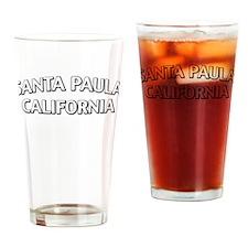 Santa Paula California Drinking Glass