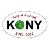 Kony 2012 Stop at Nothing Obituary Decal