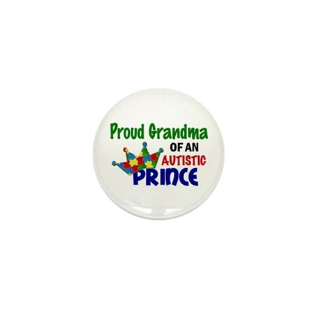 Proud Of My Autistic Prince Mini Button (100 pack)