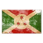 Burundi Flag Sticker (Rectangle 10 pk)