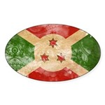 Burundi Flag Sticker (Oval)