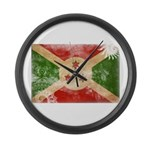 Burundi Flag Large Wall Clock