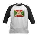 Burundi Flag Kids Baseball Jersey