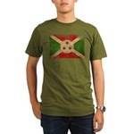 Burundi Flag Organic Men's T-Shirt (dark)