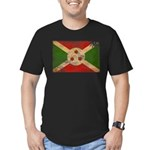 Burundi Flag Men's Fitted T-Shirt (dark)