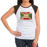Burundi Flag Women's Cap Sleeve T-Shirt
