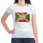 Burundi Flag Jr. Ringer T-Shirt