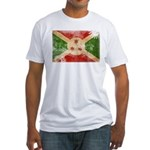 Burundi Flag Fitted T-Shirt