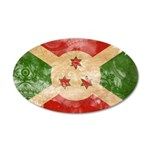 Burundi Flag 38.5 x 24.5 Oval Wall Peel