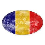 Chad Flag Sticker (Oval 10 pk)