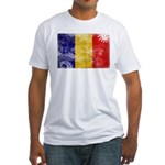 Chad Flag Fitted T-Shirt