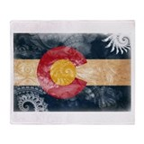 Colorado flag Throw Blankets