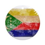Comoros Flag Ornament (Round)