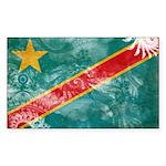 Congo Flag Sticker (Rectangle 10 pk)