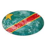 Congo Flag Sticker (Oval 50 pk)