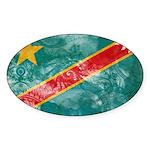 Congo Flag Sticker (Oval)