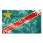 Congo Flag Sticker (Rectangle)