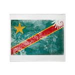 Congo Flag Throw Blanket