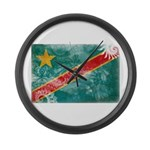 Congo Flag Large Wall Clock