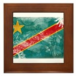 Congo Flag Framed Tile