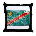 Congo Flag Throw Pillow