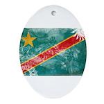 Congo Flag Ornament (Oval)