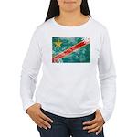 Congo Flag Women's Long Sleeve T-Shirt