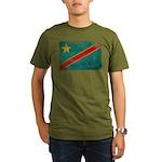 Congo Flag Organic Men's T-Shirt (dark)