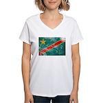 Congo Flag Women's V-Neck T-Shirt