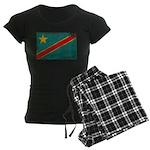 Congo Flag Women's Dark Pajamas