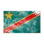 Congo Flag 38.5 x 24.5 Wall Peel