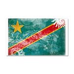 Congo Flag Car Magnet 20 x 12