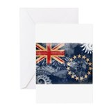 Cook Islands Flag Greeting Cards (Pk of 10)
