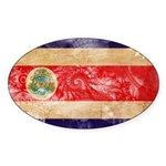 Costa Rica Flag Sticker (Oval)