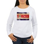 Costa Rica Flag Women's Long Sleeve T-Shirt
