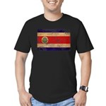 Costa Rica Flag Men's Fitted T-Shirt (dark)